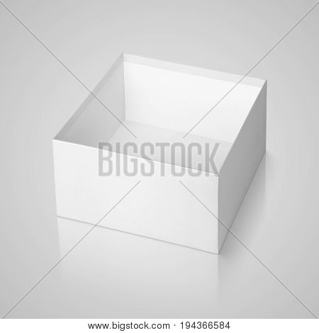 Opened Square Box On Gray