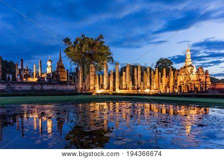 Sukhothai historical park Buddha Statue at Wat Mahathat in Sukhothai Historical ParkThailand