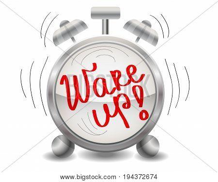 Metal Mechanical Realistic Alarm Clock, Ringing Clock, Climb, Get Up