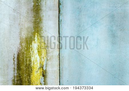 Old blue metal tin panel wall texture. Architecture detail background