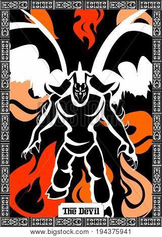 the illustration - card for tarot - the devil.