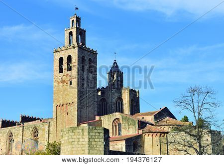 Sant Cugat. Church in the town of Sant Cugat in Barcelona.