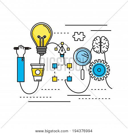 creative process with icons design vector illustration