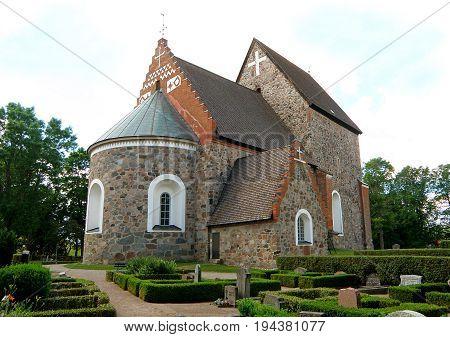 Gamla Uppsala Kyrka (Old Church) in the Old Town of Uppsala, Sweden, Scandinavia