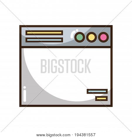 technology window element and website document vector illustration