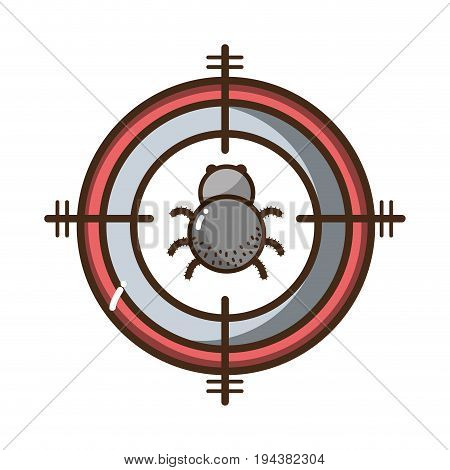 spider insect animal symbol and dangerous symbol icon vector illustration