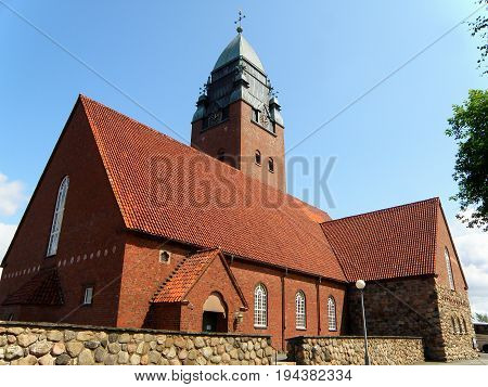 Masthuggskyrkan Church, an impressive church on top of the hill of Goteborg, Sweden