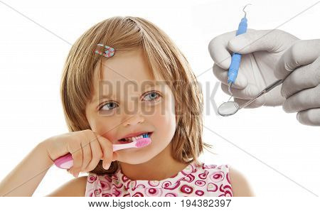 a dental care - close up isolated