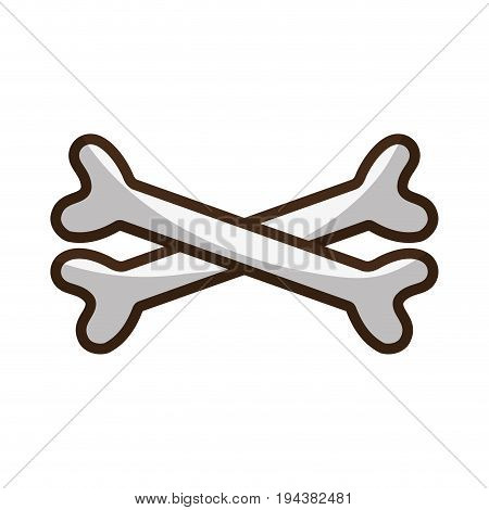 bones in cross danger symbol to caution alert vector illustration