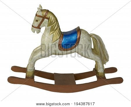 Colorful Carousel Rocking Horse - path included