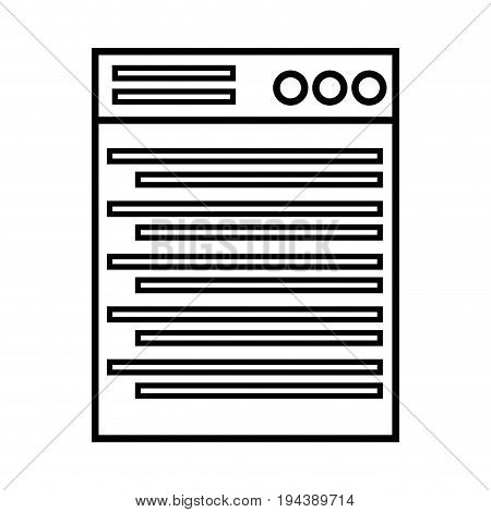 line technology window element and website document vector illustration