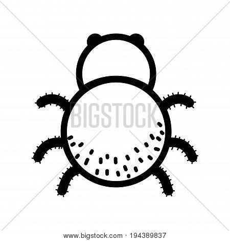 line spider insect animal and dangerous symbol icon vector illustration