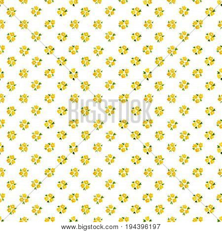 Calico Watercolor Forget Me Not Pattern. Great Seamless Cute Small Flowers For Fabric Design. Calico