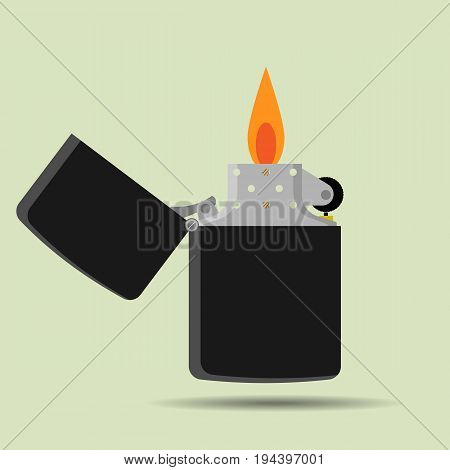 pocket lighter icon in flat style illustration for web site or mobile app