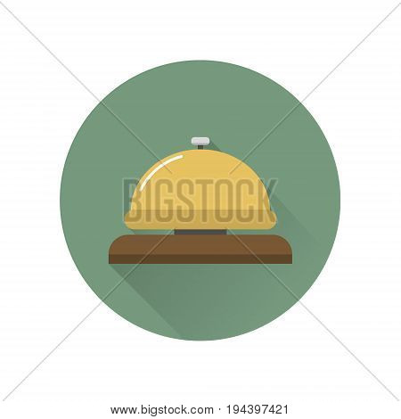 Bell icon in flat style web icon isolated