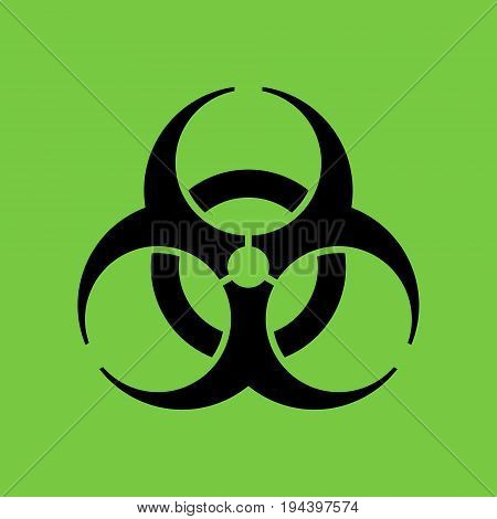 Biohazard icon in flat style symbol isolated