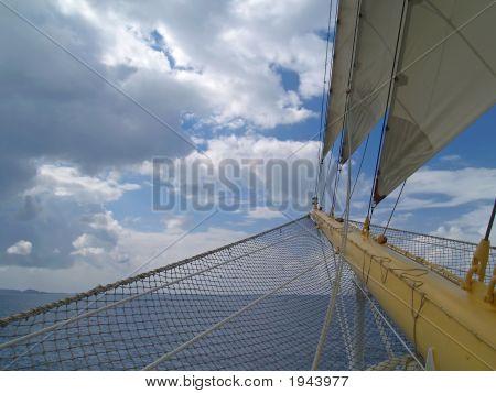 Hoofd van zeil schip