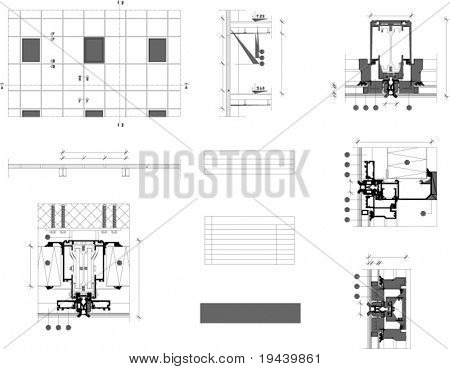 architectural vector plan white blank table