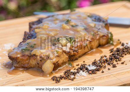 Boneless Steak Diane