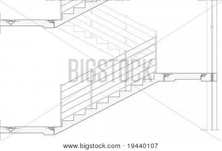 stairs draw vector