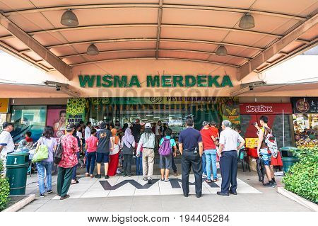 Kota Kinabalu,Sabah-June 17,2017:Wisma Merdeka Shopping Mall in Kota Kinabalu,Sabah,Malaysia.Its constitutes of about more than 300 shops,being a major source of visitor attraction in KK,Sabah.