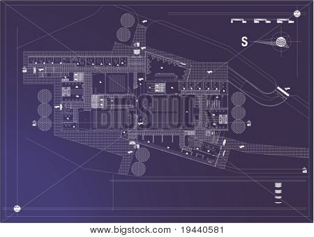 industry complex - architectural vector draw