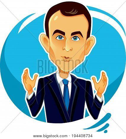 June 8, 2017 Emmanuel Macron Vector Caricature