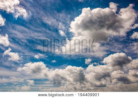 Dramatic Sky With Dynamic Cloud Arrangement