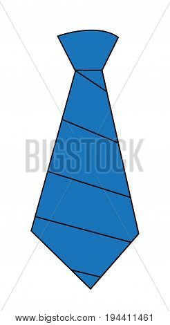 Cool Blue Tie on Isolated White Background