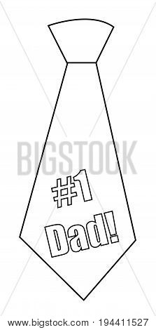 Isolated #1 Dad Tie Happy Fathers Day