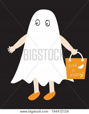 Happy Halloween Trick or Treater with Goodie Bag
