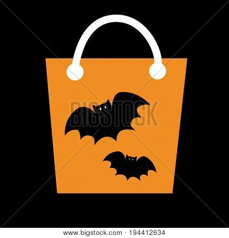 Happy Halloween Candy Goodie Treat Bat Bag