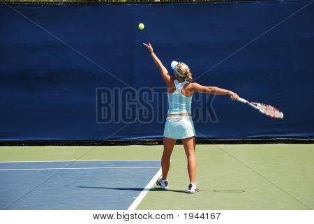 Woman Tennis - Serving