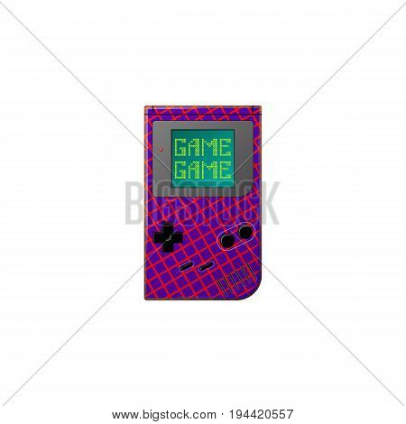 Electronic game symbol of the 80's and 90's. Unusual view.