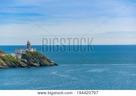 Baily Lighthouse on the southeastern part of Howth Head in Dublin,
