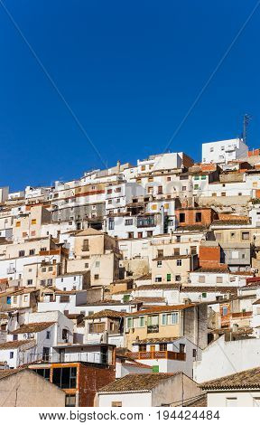 White Houses On The Steep Hill Of Alcala Del Jucar