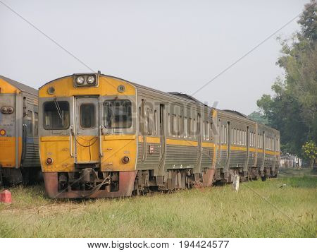 Thn Diesel Railcar No 1256. For Free Train No.408 To Nakhonsawan From Chiangmai.