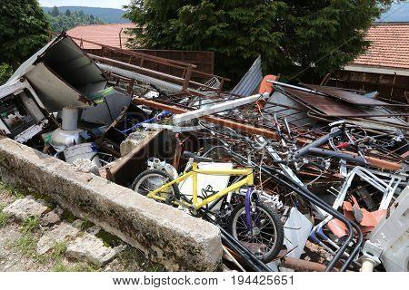 Municipal Dump Of Ferrous Materials