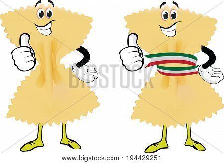 Italian pasta type butterfly Italian pasta type butterfly