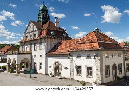 The Art nouveau Spa house of Bad Nauheim Hesse Germany