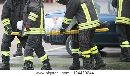 Firefighters Rescued The Injured After A Tragic Car Accident