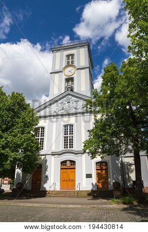 Neoclassical church Burgkirche of Friedberg Hesse Germany