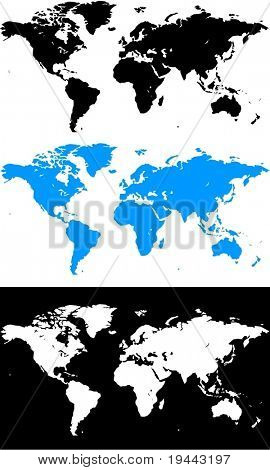 World Map in Vector Design