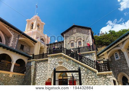 Cyprus - May 27 2014: View on The Kykkos Monastery is one of the wealthiest and best-known monasteries in Cyprus
