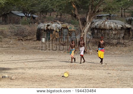 Men from the tribe of Samburu in Kenya