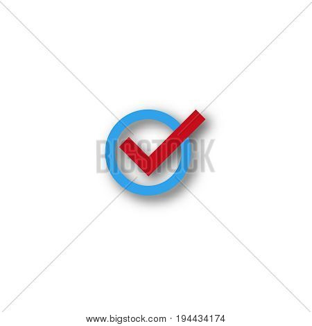 check mark symbol  vector  flat icon  confirm