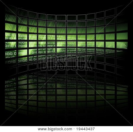 Binary Code on tv screens (very big size)