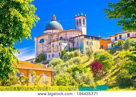 Santa Maria Della Neve Church On Idyllic Green Hill