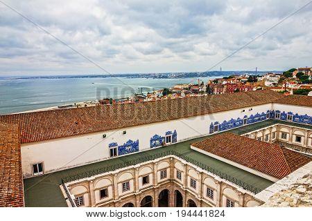 Lisbon, Portugal - July 8, 2017: Saint Vicente de Fora Monastery