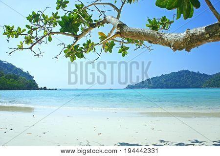sea beach blue sky at surin island Thailand